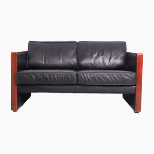 2-Seat Sofa in Leather and Cherry from Walter Knoll / Wilhelm Knoll, 1970s