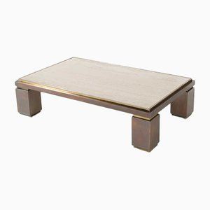 Travertine Coffee Table from Belgo Chrom / Dewulf Selection