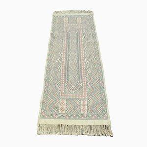 Vintage Tunisian Handwoven Wool Kilim Runner Rug from Berber Weavers