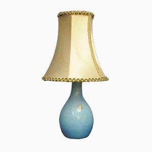 Blue Glass Lamp, Huta Boussu, Belgium