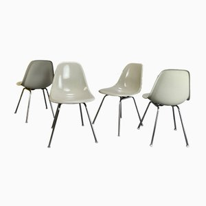 Side Chairs in Off-White by Charles & Ray Eames for Vitra, 1970s, Set of 4