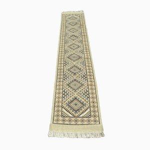 Handmade Brown Corridor Berber Tribal Runner Rug in Wool from Berber Artisans