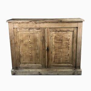 Bufet o mueble de almacenamiento de pino crudo, década de 1800