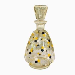 Handbemalte Vintage Kristallglas Karaffe, 1860er