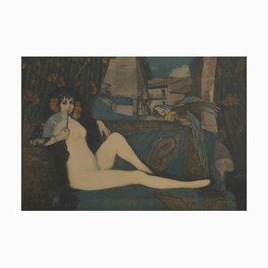 Fermín Arango Barcia (Santa Eulalia de Oscos, 1874 - Paris, 1962), Naked Maya after Ignacio Zuloaga y Zabaleta (Eibar, 1870 - Madrid, 1945)
