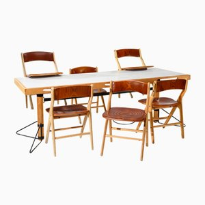 Esszimmer Set aus Tisch und 6 Stühlen von Marc Held für IBM, 7er Set