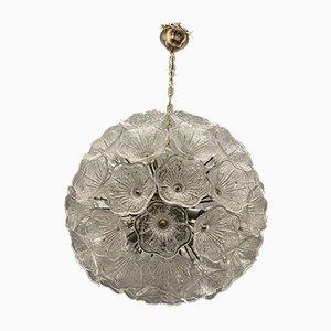 Glas Blumen Sputnik Kronleuchter von Venini für Veart