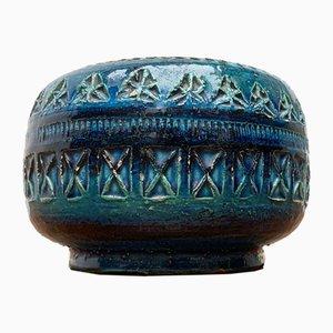 Italienischer Vintage Rimini Blue Keramik Aschenbecher von Aldo Londi für Bitossi