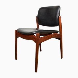 Dänische Captain Armlehnstühle aus Teak & Leder von Erik Buck für Orum Mobelfabrik, 1960er, 4er Set