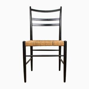 Italian Cord B-Series Chairs from Consorzio Sedie Friuli, 1960s, Set of 4