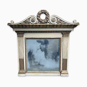 Gilded and Lacquered Fireplace Mirror
