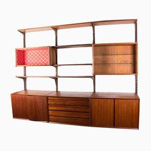 Large Danish Adjustable Shelf in Dark Teak by Poul Cadovius, 1960s