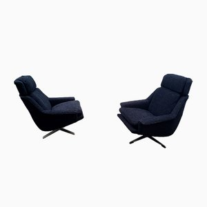 Danish Model 802 Swivel Chairs in Black by Werner Langenfeld for ESA, 1960