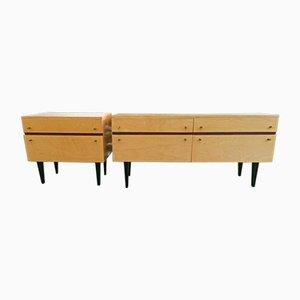 Mid-Century Sideboard und Nachttisch, 1960er, 2er Set
