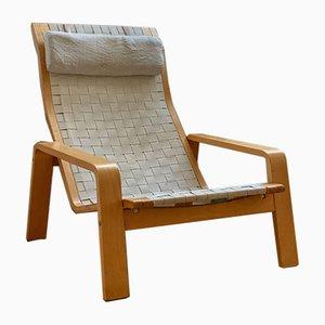 Poltrona Vilan vintage con poggiapiedi di Ikea