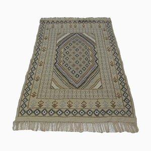 Tappeto Kilim tribale vintage fatto a mano in lana di Berber Weavers