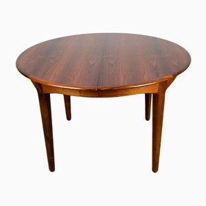 Large Danish Extendable Rosewood Model 62 Dining Table by Henning Kjaernulf for Soro Stolefabrik, 1960s