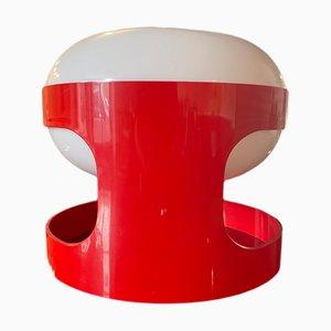 Lampada KD27 rossa di Joe Colombo, Italia