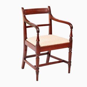 George III Antique Mahogany Desk Chair