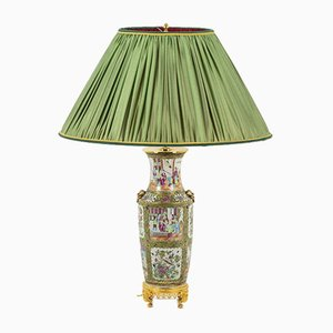 Large Canton Porcelain Lamp, 1880s