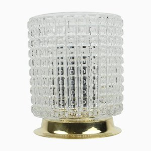 Lámpara de mesa Mid-Century de cristal de Kamenicky Senov, años 70