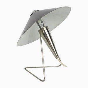 Lámpara de mesa grande de metal de Helena Frantova para Okolo, años 60