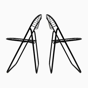 Black Wire Chair by Niels Gammelgaard for IKEA, 1970s