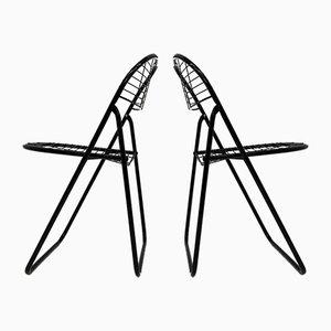 Silla Wire negra de Niels Gammelgaard para IKEA, años 70