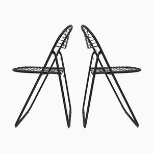 Silla Wire gris de Niels Gammelgaard para IKEA, años 70