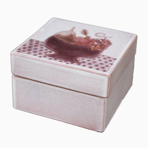 French Ceramic Decorative Box from Frères Cloutier, 1970s