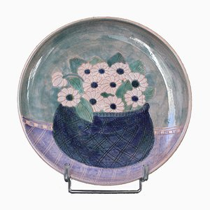 French Ceramic Decorative Platter from Frères Cloutier, 1970s