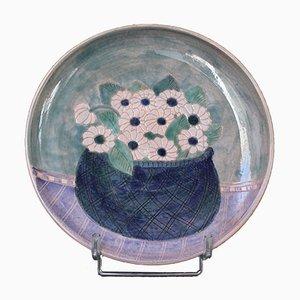 Fuente decorativa francesa de cerámica de Frères Cloutier, años 70