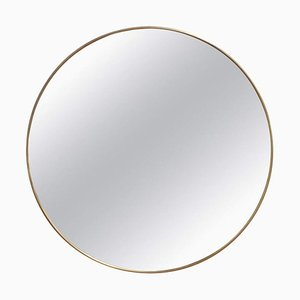 Vintage Italian Wall Mirror with Brass Frame