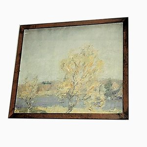 2-seitiges Gemälde, Öl auf Leinwand