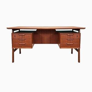 Dänischer Teak Modell 75 Schreibtisch von Omann Jun, 1960er