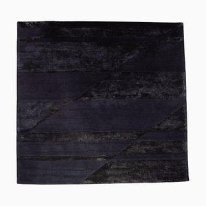 Minotti Fluxus Dark Blue Patterned Rug