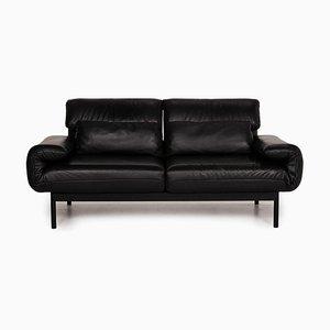 Plura Black Leather Sofa by Rolf Benz