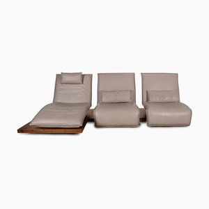 Free Motion Cream Leather Sofa from Koinor
