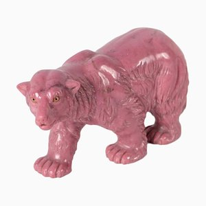 Pink Marble Bear Sculpture, Italy, 20th Century