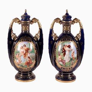 Vienna Pottery Vases, Set of Nan