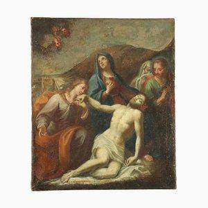 Compianto su Cristo Morto, Oil on Canvas