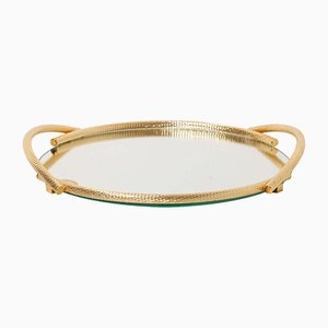 Gold Plated 24KT Service Tray by Dimart, Italy