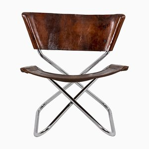 Z-Down Chair in Metal and Leather by Erik Magnussen, 1968