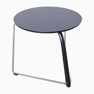 Black Round Side Table from Thonet
