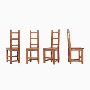 Schwedische Esszimmerstühle aus Nussholz von Sven Larsson, 4er Set