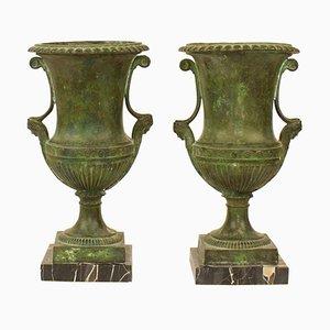 Spätes 19. Jahrhundert griechische Revival Bronze Krater Vasen, Frankreich, 2er Set