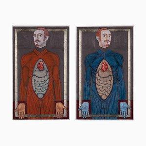 Salvatore Travascio, Cosmas und Damian, 2012, Original Gemälde