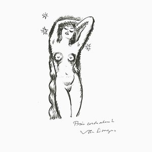 Standing Nude, Original Lithograph After Kees Van Dongen, 1982