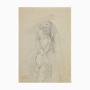Unknown, Nude of Woman, Original Pencil Drawing, Early 20th Century
