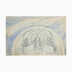 Unknown, the Dream the Idea the Reality, Disegno originale a penna, inizio XX secolo